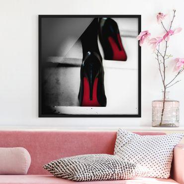 Poster con cornice - Tacchi alti in rosso - Quadrato 1:1
