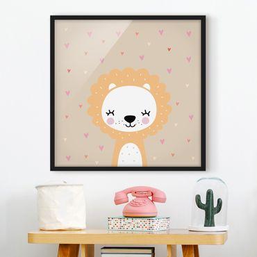 Poster con cornice - Caro Leo