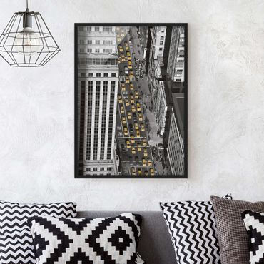 Poster con cornice - Taxi Traffic In Manhattan - Verticale 4:3
