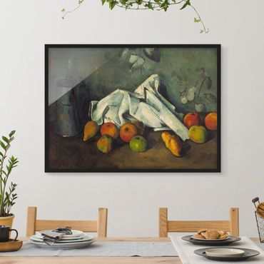 Poster con cornice - Paul Cézanne - Milk Can And Apples - Orizzontale 3:4