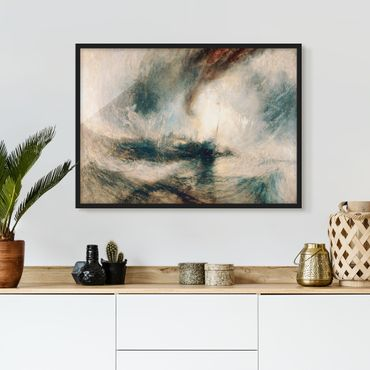 Poster con cornice - William Turner - Snowstorm On The Sea - Orizzontale 3:4