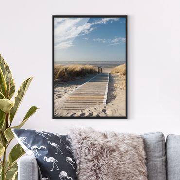 Poster con cornice - Baltic Sea Beach - Verticale 4:3