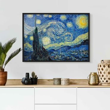 Poster con cornice - Vincent Van Gogh - Starry Night - Orizzontale 3:4