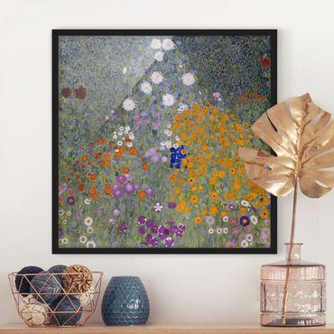 Poster con cornice - Gustav Klimt - Cottage Garden - Quadrato 1:1