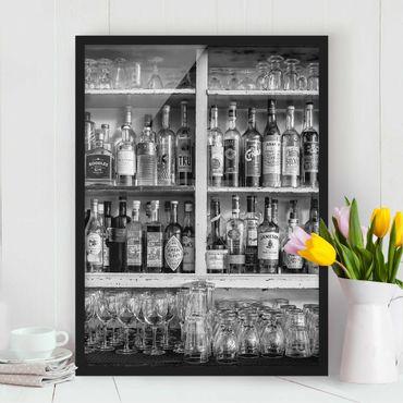 Poster con cornice - Bar Black White - Verticale 4:3