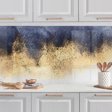 Rivestimenti cucina - Cielo nuvoloso con oro