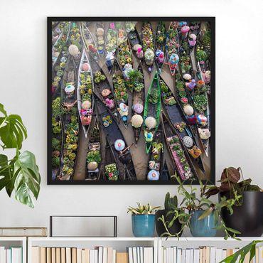 Poster con cornice - Floating Market - Quadrato 1:1