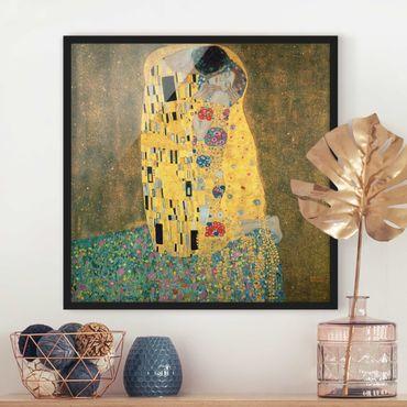 Poster con cornice - Gustav Klimt - Il bacio