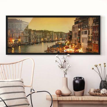 Poster con cornice - Canal Grande Di Venezia - Panorama formato orizzontale