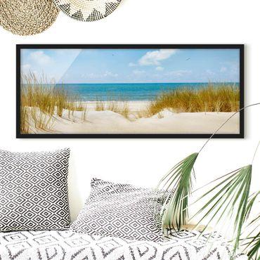 Poster con cornice - Spiaggia Sul Mare Del Nord - Panorama formato orizzontale