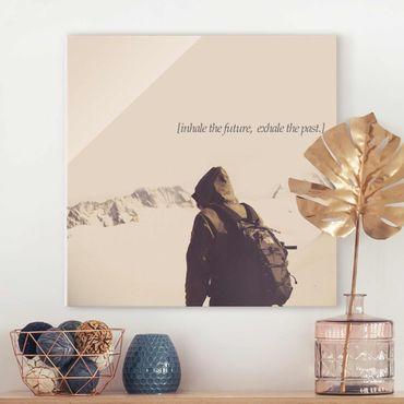 Quadro in vetro - Paesaggi lirici - Respiro - Quadrato 1:1
