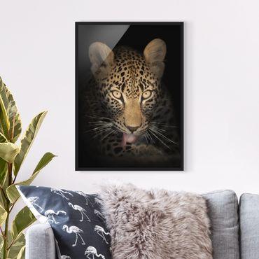 Poster con cornice - Resting Leopard - Verticale 4:3