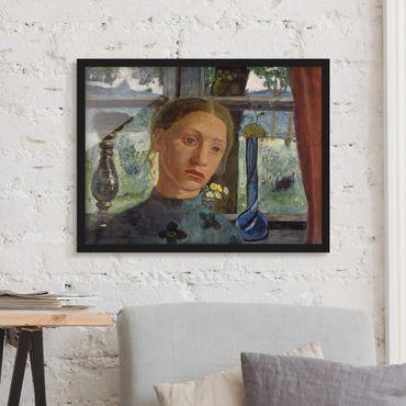 Poster con cornice - Paula Modersohn-Becker - Girl's Head In Front Of A Window - Orizzontale 3:4