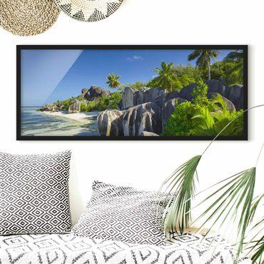 Poster con cornice - Dream Beach Seychelles - Panorama formato orizzontale