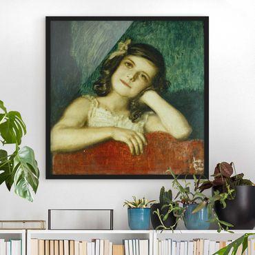 Poster con cornice - Franz Von Stuck - Mary - Quadrato 1:1