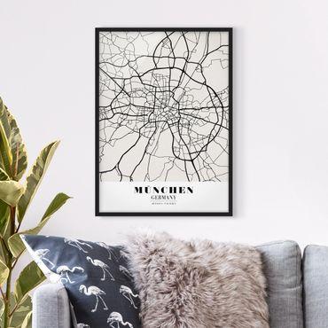 Poster con cornice - Munich City Map - Classic - Verticale 4:3
