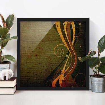 Poster con cornice - Asian Flower - Quadrato 1:1