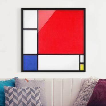 Poster con cornice - Piet Mondrian - Composition Red Blue Yellow - Quadrato 1:1