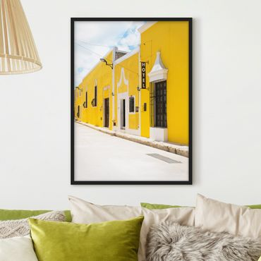 Poster con cornice - City In Yellow - Verticale 4:3