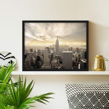 Poster con cornice - Manhattan Dawn - Orizzontale 3:4