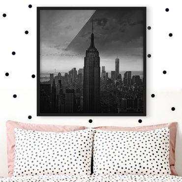 Poster con cornice - New York Rockefeller View - Quadrato 1:1
