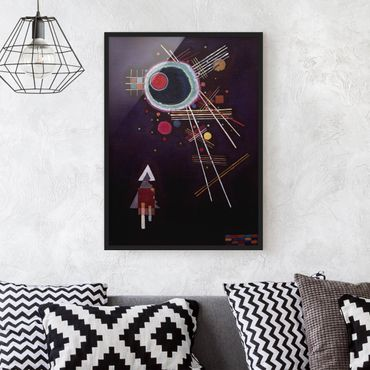 Poster con cornice - Wassily Kandinsky - Ray Lines - Verticale 4:3