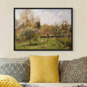 Poster con cornice - Camille Pissarro - Primavera in Eragny - Orizzontale 3:4