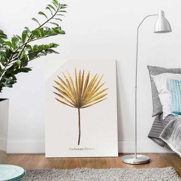 Quadro in vetro - Gold - Palm Leaf - Verticale 4:3