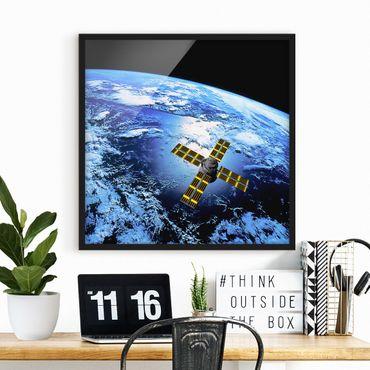 Poster con cornice - Space Runner - Quadrato 1:1