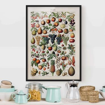 Poster con cornice - Frutta Consiglio d'epoca - Verticale 4:3