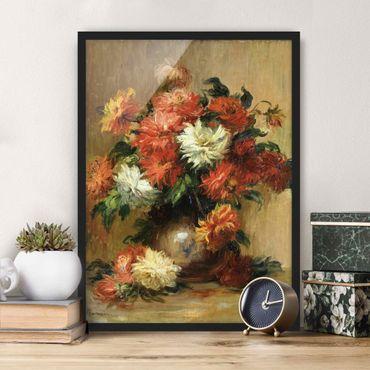 Poster con cornice - Auguste Renoir - Still Life With Dahlias - Verticale 4:3