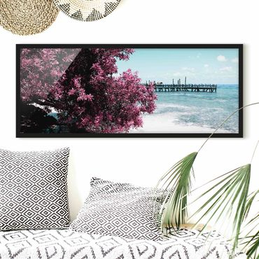 Poster con cornice - Paradise Beach Isla Mujeres - Panorama formato orizzontale