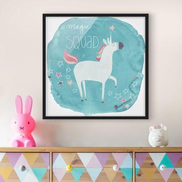 Poster con cornice - Unicorn Troop - Magic - Quadrato 1:1