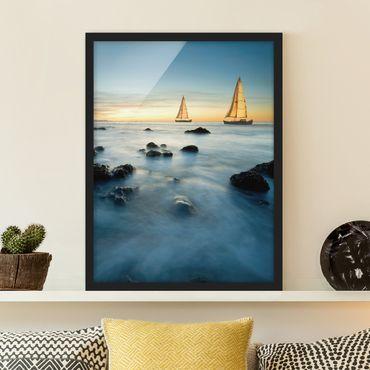 Poster con cornice - Sailboats In The Ocean - Verticale 4:3