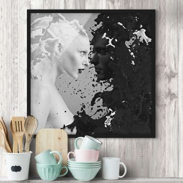 Poster con cornice - Milk & Coffee II - Quadrato 1:1