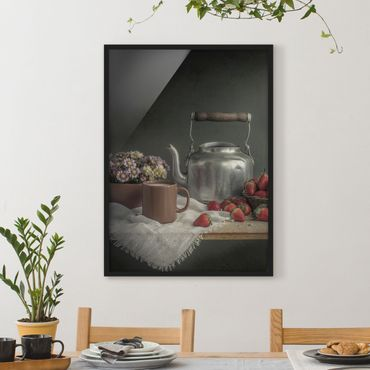 Poster con cornice - Still Life With Strawberries - Verticale 4:3