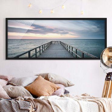 Poster con cornice - Steg Promenade - Panorama formato orizzontale