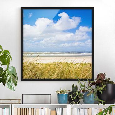 Poster con cornice - At The North Sea Coast - Quadrato 1:1