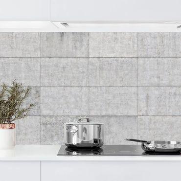 Rivestimento cucina - Mattonelle in cemento grigio