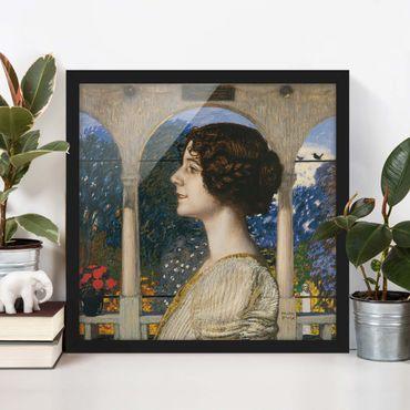 Poster con cornice - Franz Von Stuck - Female Portrait - Quadrato 1:1