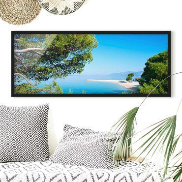 Poster con cornice - Paradise Hidden - Panorama formato orizzontale