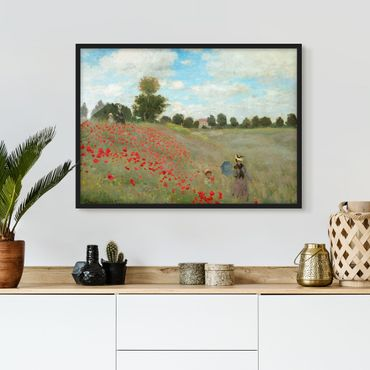 Poster con cornice - Claude Monet - Poppy Field At Argenteuil - Orizzontale 3:4