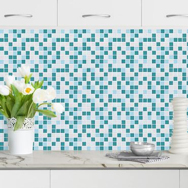 Rivestimento cucina - Mosaici turchese blu