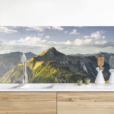 Rivestimento cucina - Montagne E Valle Delle Alpi Della Lechtal In Tirol