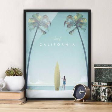 Poster con cornice - Poster di viaggio - California - Verticale 4:3