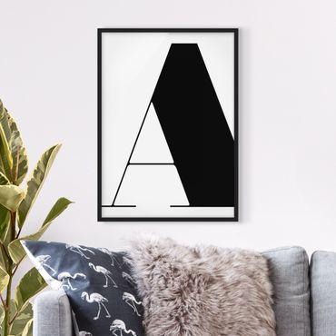 Poster con cornice - Antiqua Letter A - Verticale 4:3