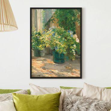 Poster con cornice - Max Liebermann - Vaso da fiori in davanti alla casa - Verticale 4:3
