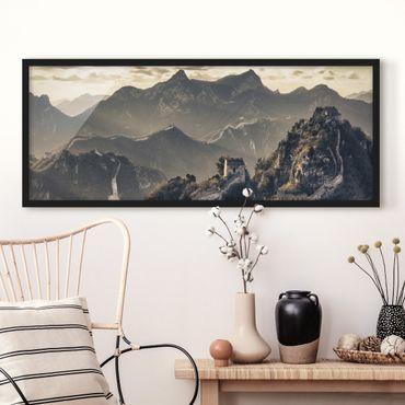 Poster con cornice - La Grande Muraglia Cinese - Panorama formato orizzontale