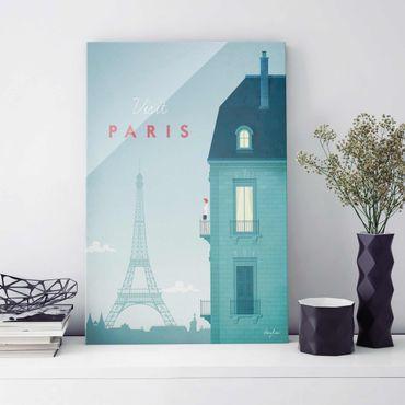 Quadro in vetro - Poster Viaggio - Parigi - Verticale 3:2