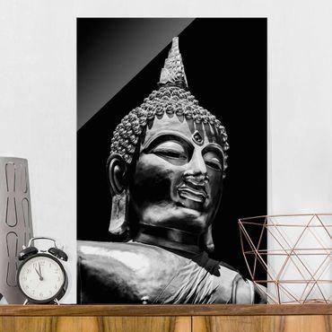 Quadro in vetro - Buddha Statue Viso - Verticale 3:2